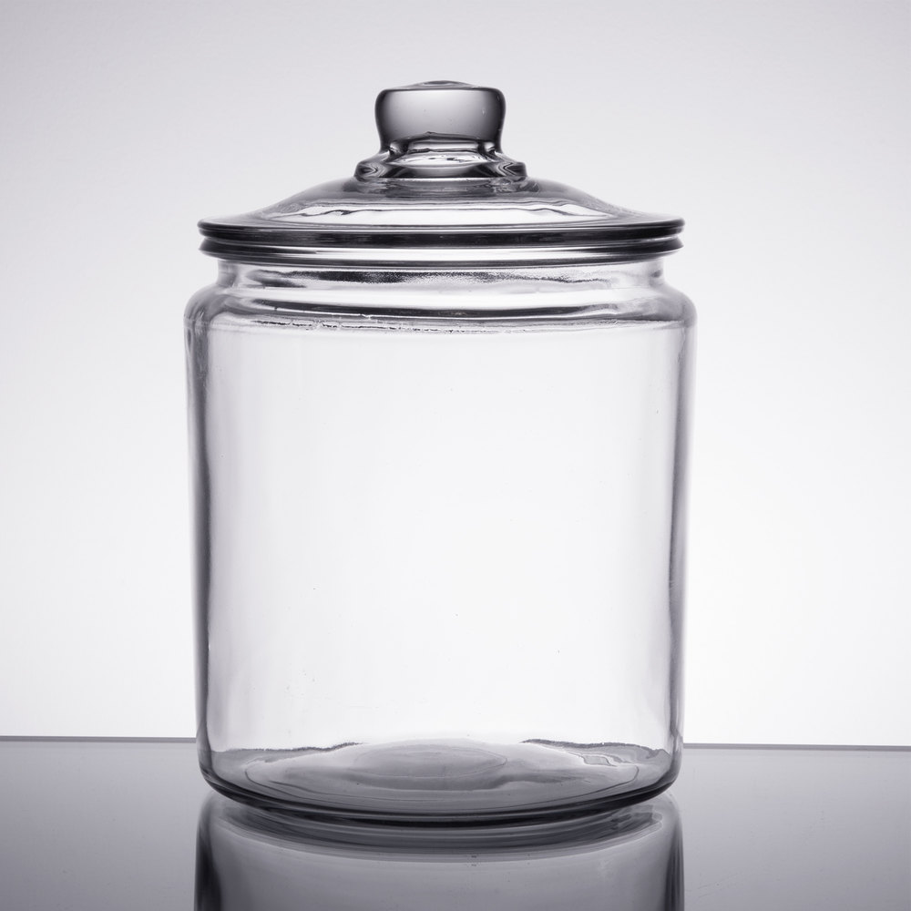 Two gallon glass jar