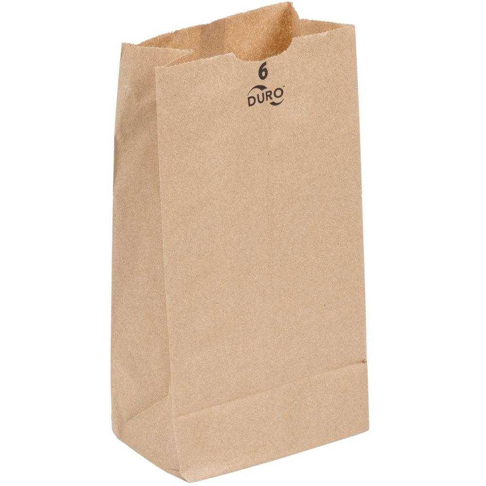 Duro 6 Lb Brown Paper Bag 500 Bundle