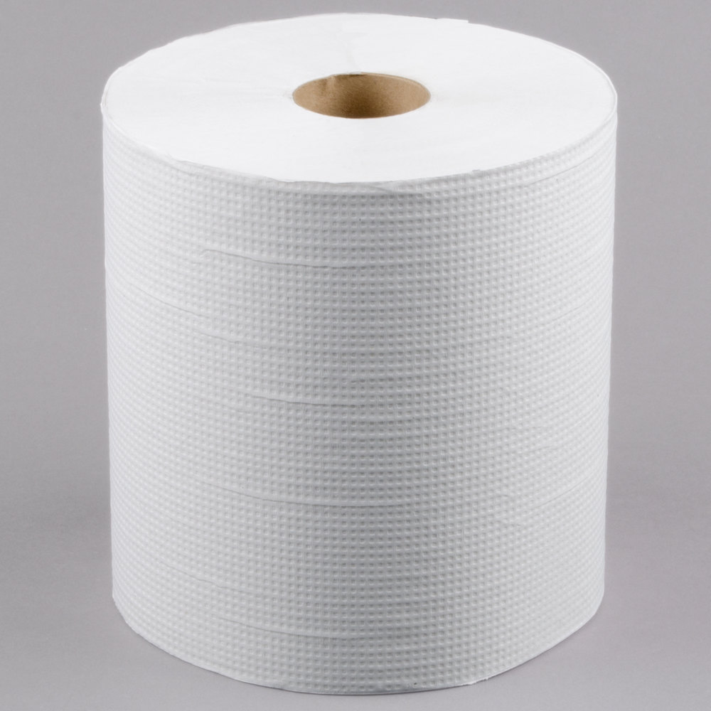 lavex janitorial 800 39 white hardwound roll paper towel 6 case. Black Bedroom Furniture Sets. Home Design Ideas