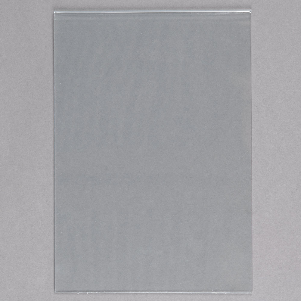 "American Metalcraft PVCSM 4"" x 5 7/8"" PVC Insert for Small Table Top Board - 5/Pack"