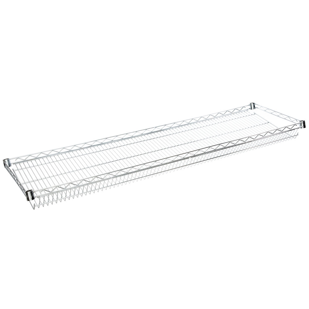 Regency 18 inch x 60 inch NSF Chrome Slanted Wire Shelf