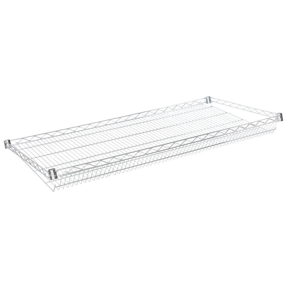 Regency 24 inch x 48 inch NSF Chrome Slanted Wire Shelf