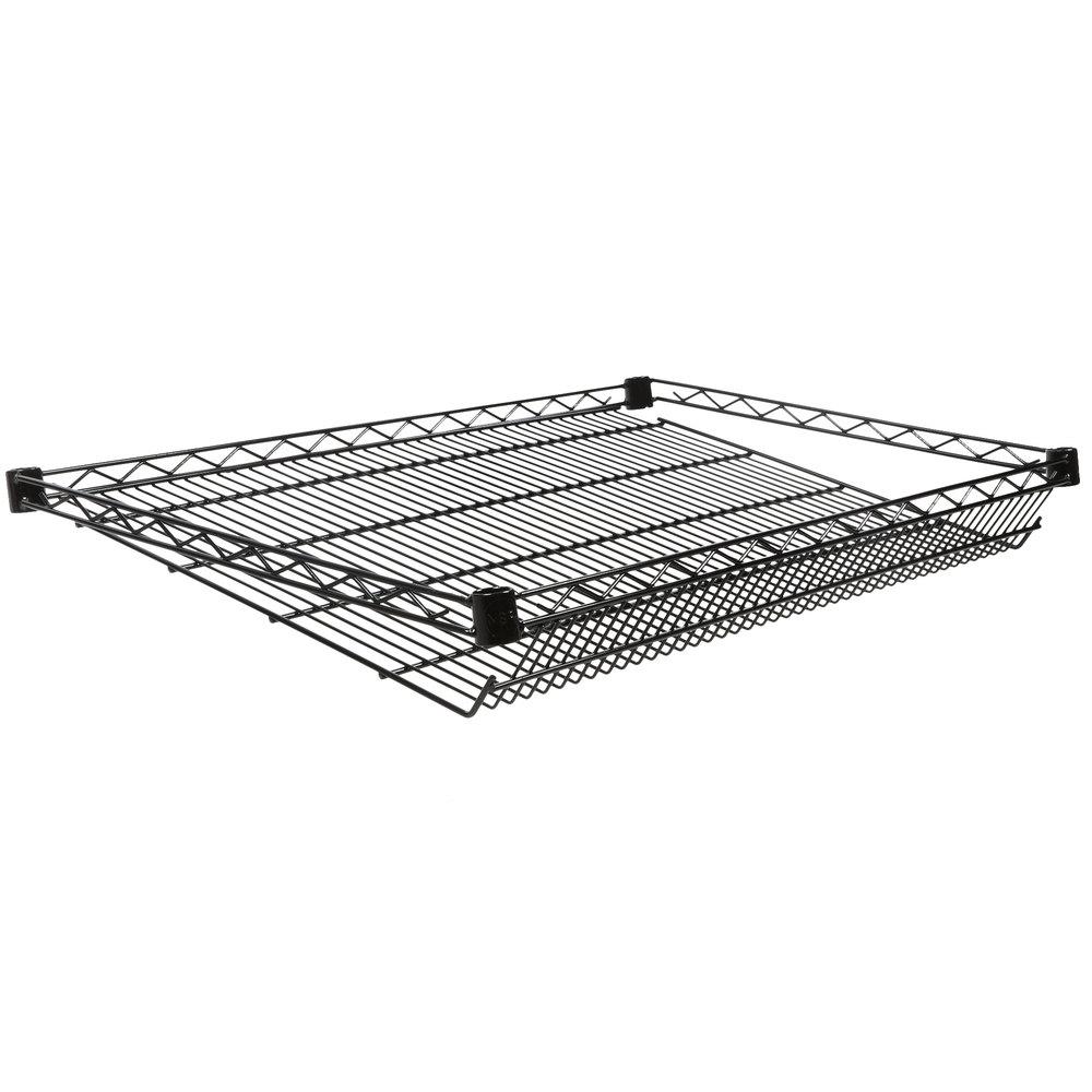Regency 24 inch x 36 inch NSF Black Epoxy Slanted Wire Shelf