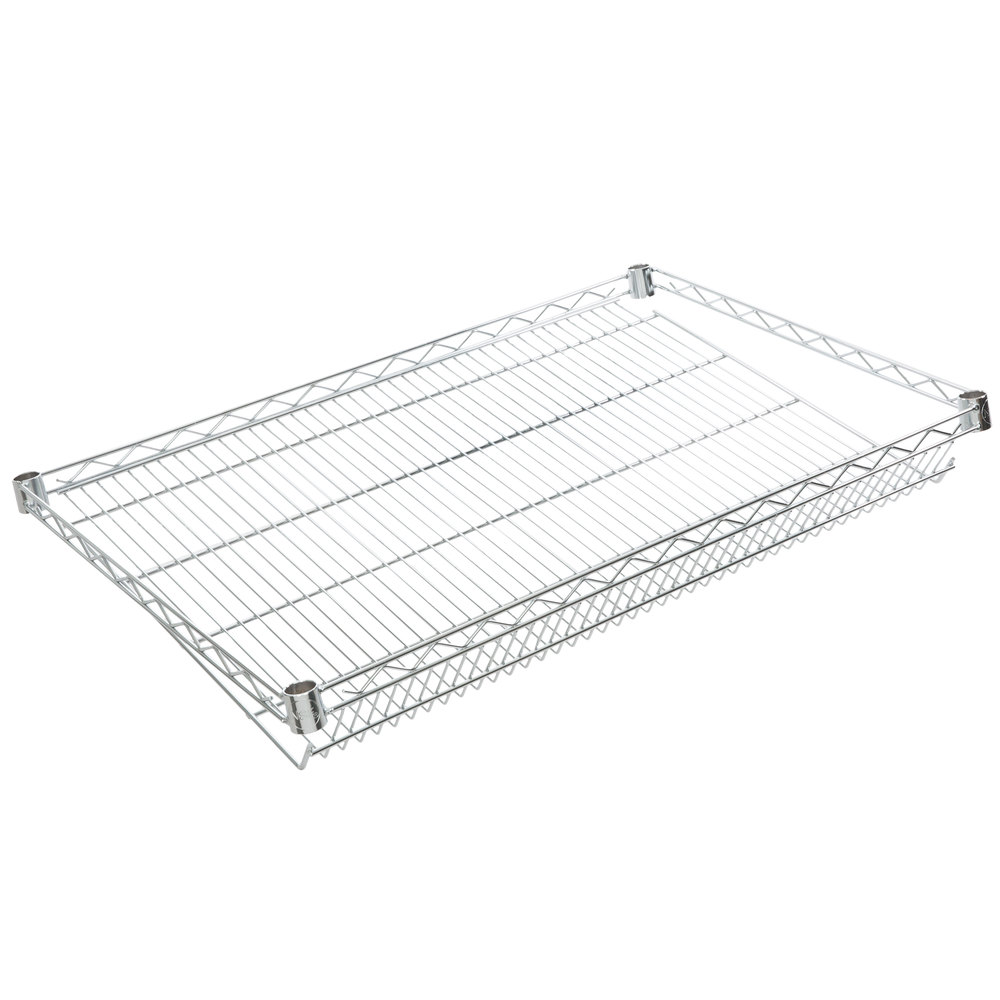 Regency 24 inch x 36 inch NSF Chrome Slanted Wire Shelf