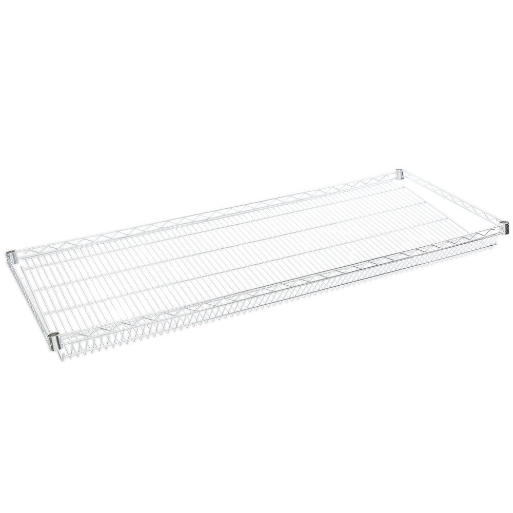 Regency 24 inch x 60 inch NSF Chrome Slanted Wire Shelf