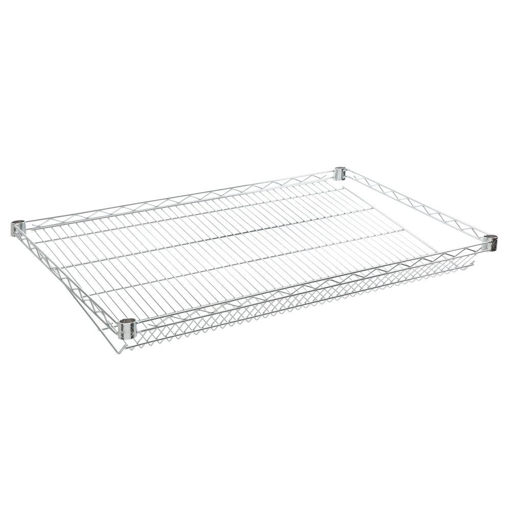 Regency 18 inch x 36 inch NSF Chrome Slanted Wire Shelf