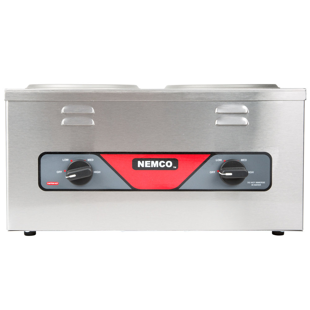 Nemco 6120A Double Well 4 Qt. Countertop Warmer - 120V, 700W