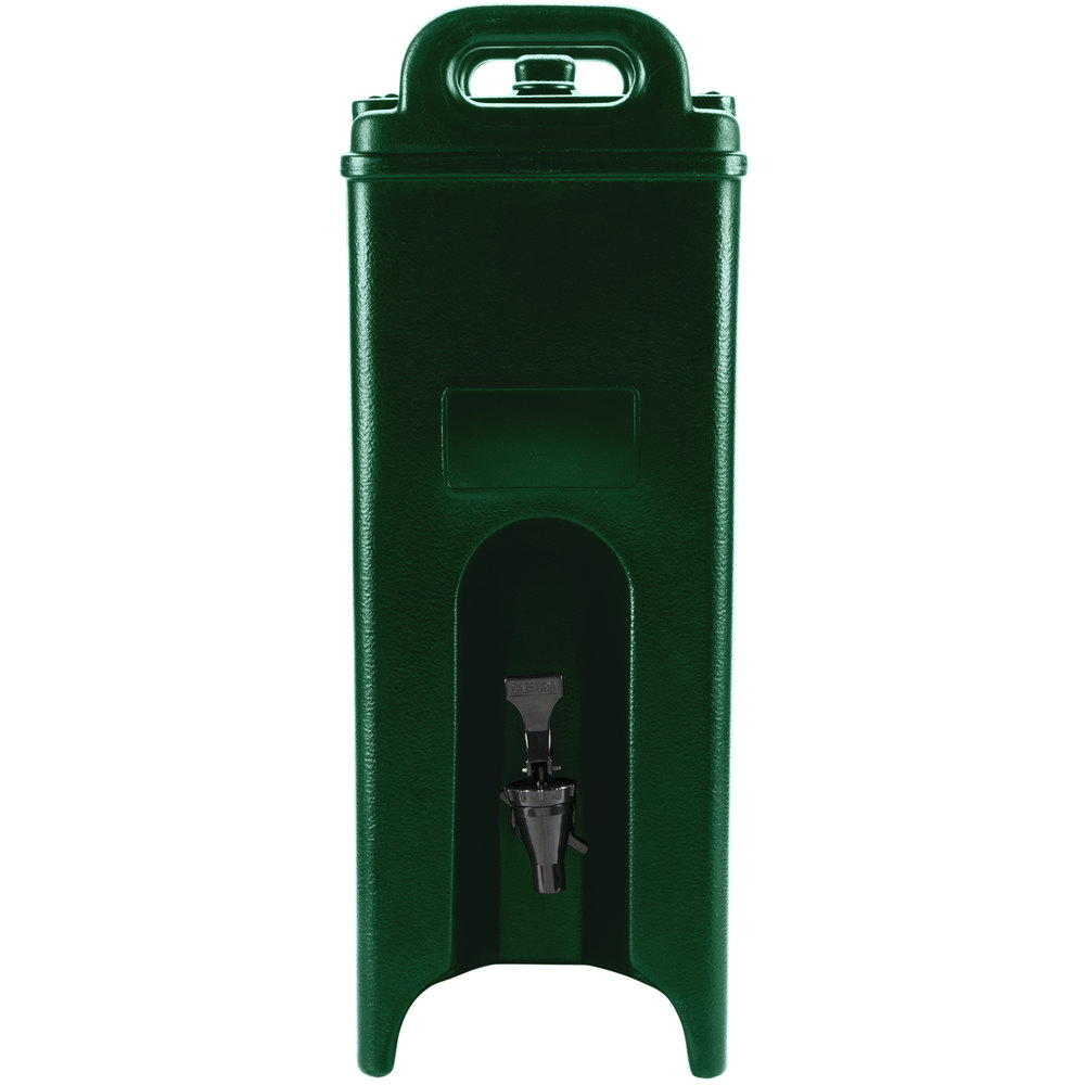 Cambro 500LCD519 Camtainer 4.75 Gallon Green Insulated Beverage Dispenser