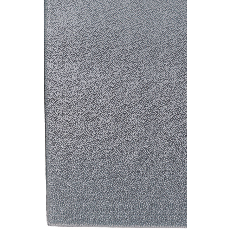 "Cactus Mat 1027-E3P Tredlite 2' x 3' Gray Pebbled Vinyl Anti-Fatigue Mat - 3/8"" Thick"