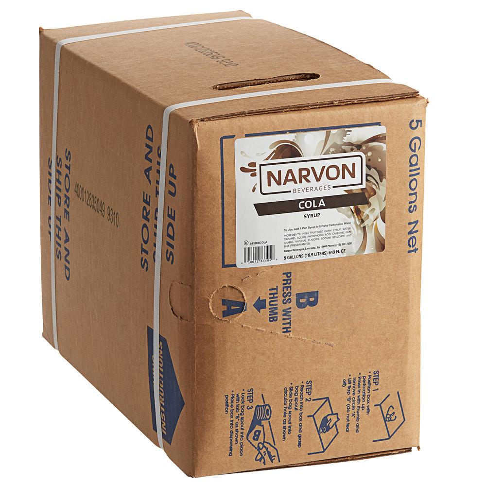 Narvon 5 Gallon Bag In Box Old Fashioned Cola Beverage Soda