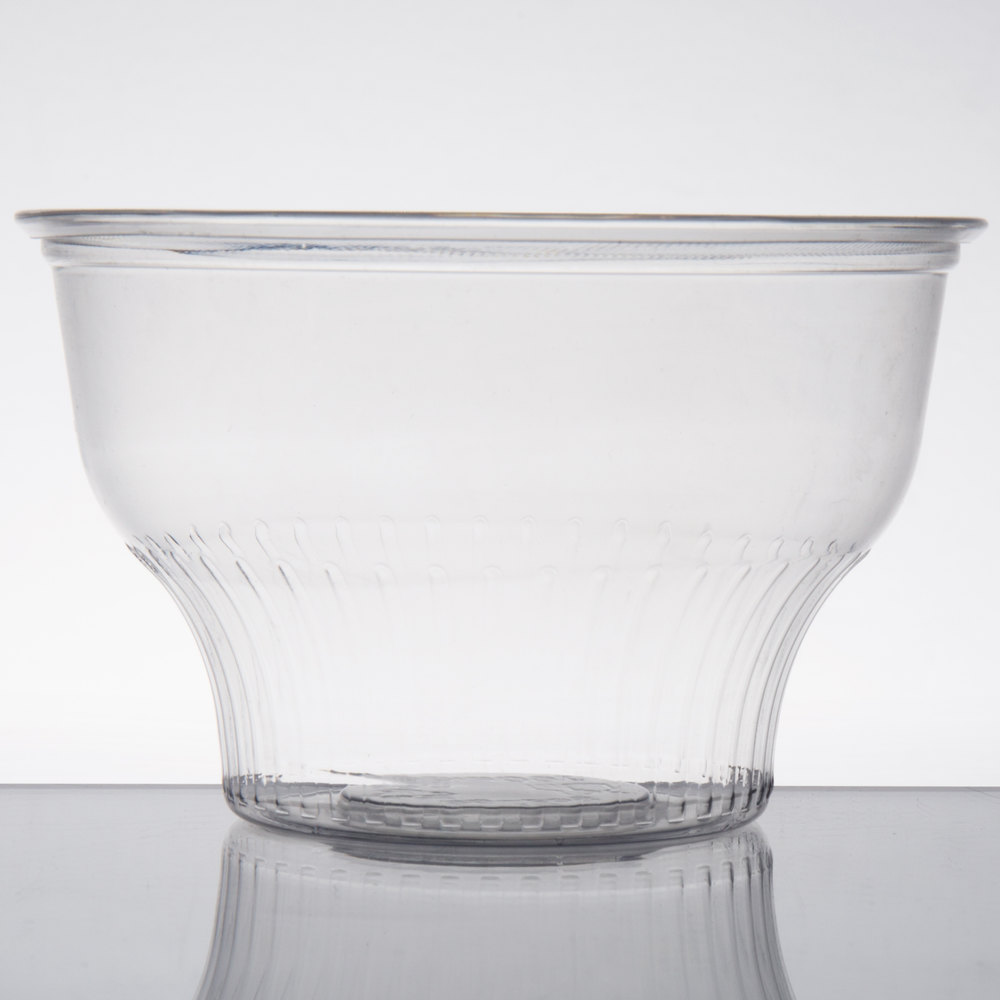 4fa7626390f Choice 8 oz. Clear Plastic Dessert Cup - 1000/Case