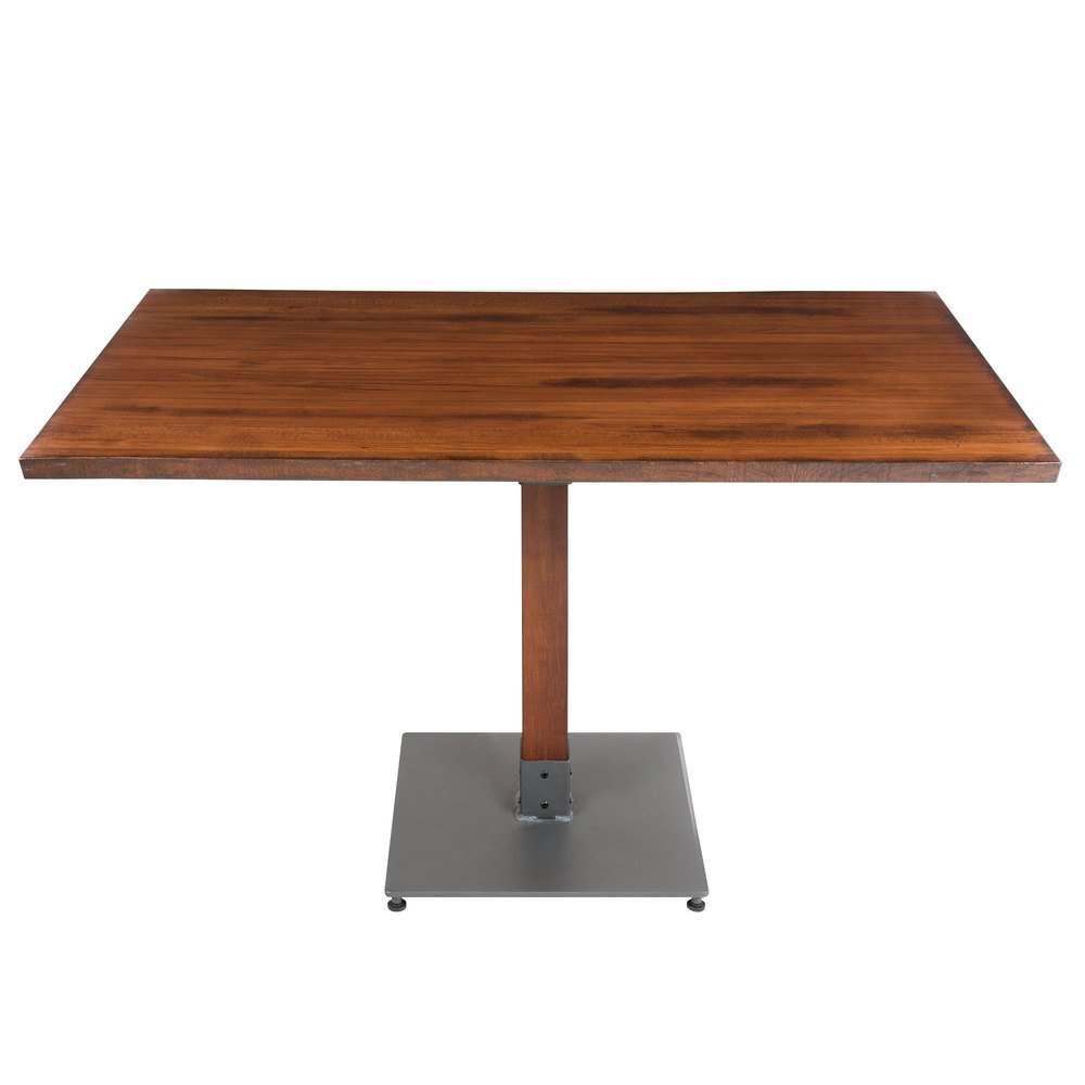 "30 Live Edge Coffee Tables That Transform The Living Room: Lancaster Table & Seating 30"" X 48"" Antique Walnut Solid"