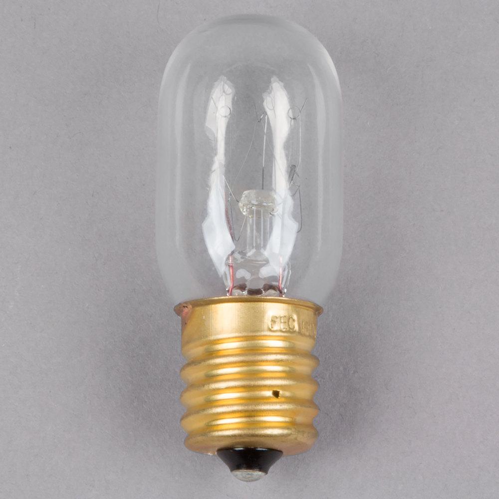 Avantco 17816351 15 Watt Clear Incandescent Indicator Light Bulb T7