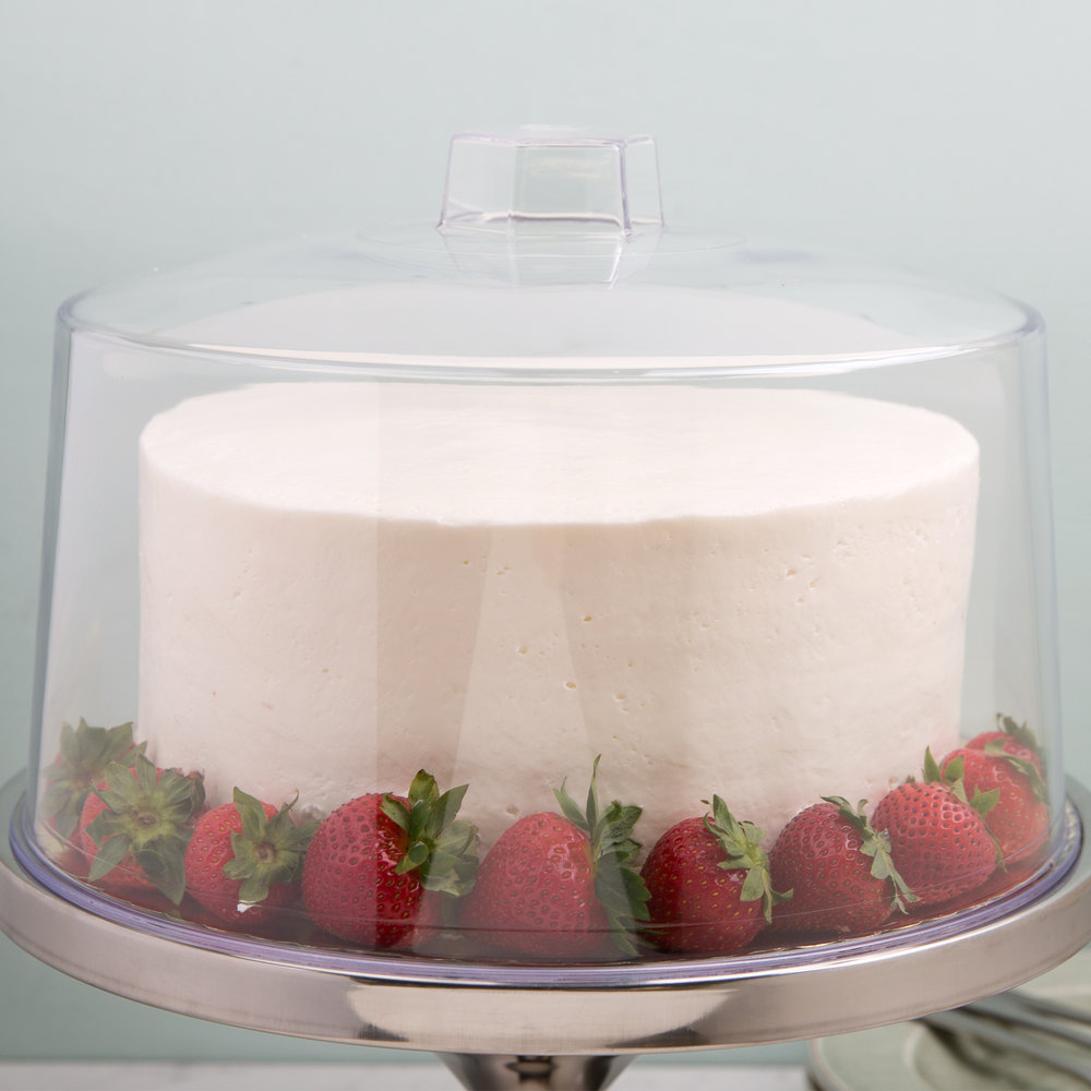 "Tablecraft 421 12"" Clear Plastic Cake Cover"