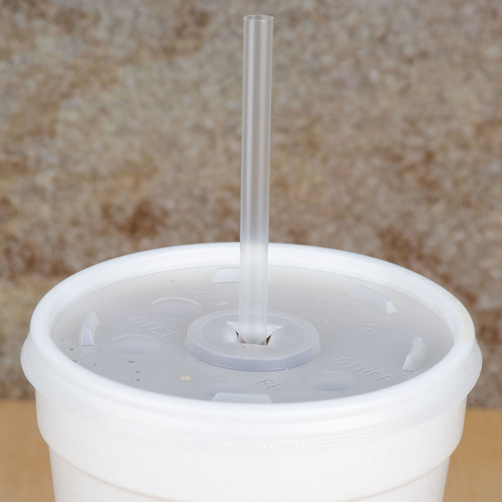 "Choice 7 3/4"" Jumbo Clear Unwrapped Straw - 12000/Case"