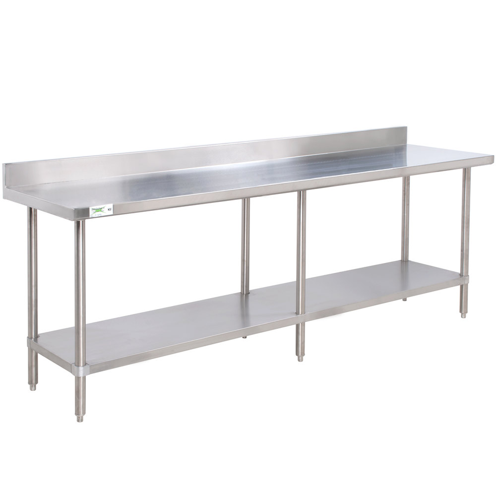 regency 24 x 96 16 gauge stainless steel commercial work table with 4