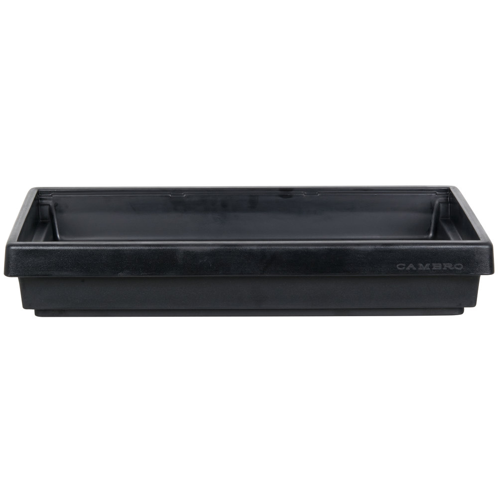 "Cambro BUF72 68"" x 24"" x 7"" Black Buffet Bar Base"