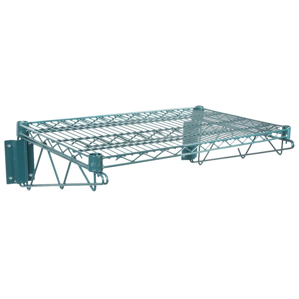 Regency 18 inch x 24 inchGreen Epoxy Wire Wall Mount Shelf