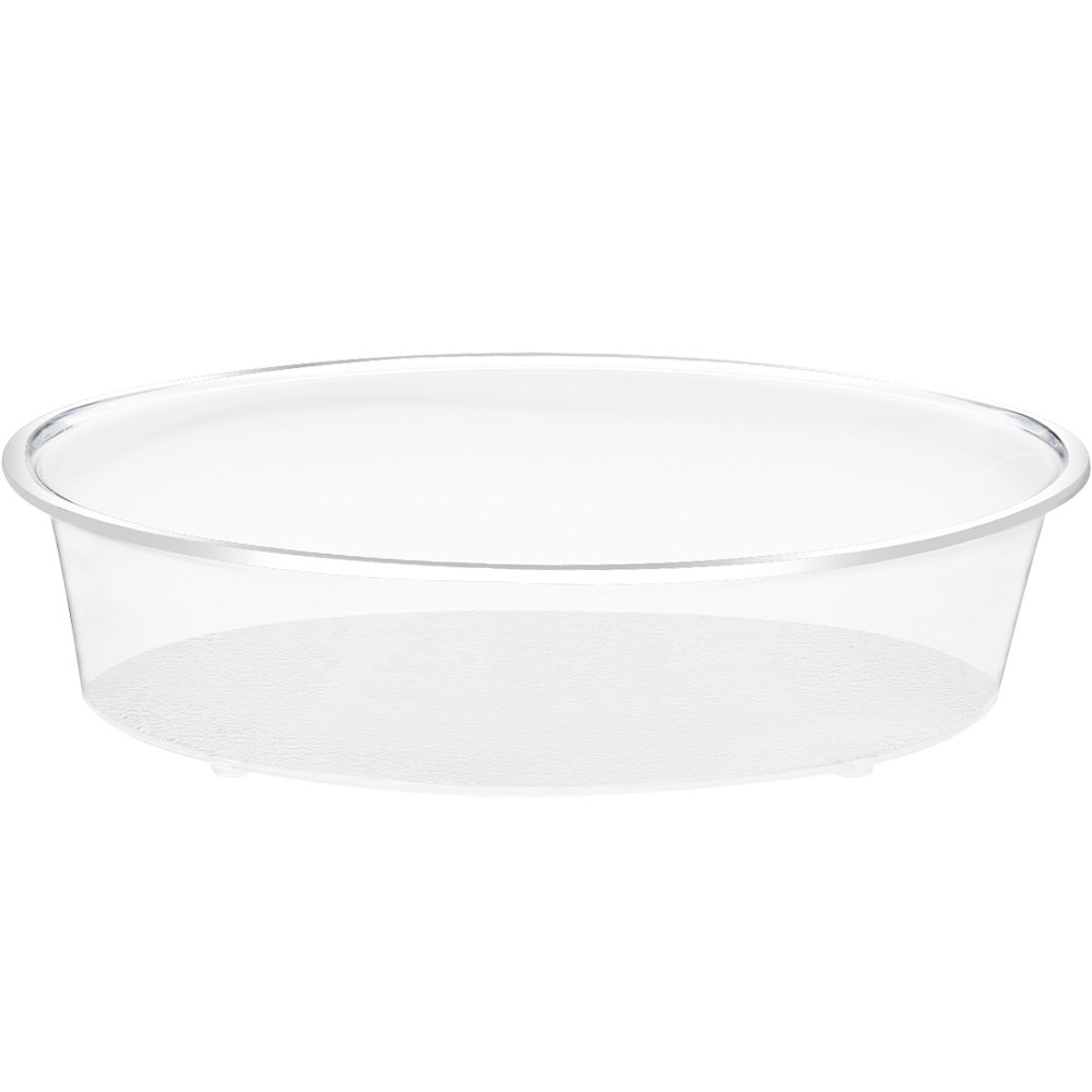 "Cal-Mil 316-18-12 Clear Turn N Serve Deep Tray for 18"" Cal-Mil Sample Dome Covers"