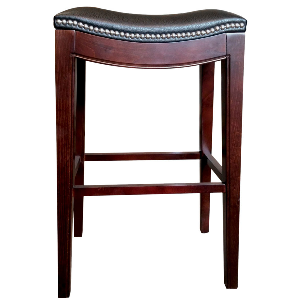 Holland Bar Stool 321030esblkvinyl Lynn Espresso Wood Bar