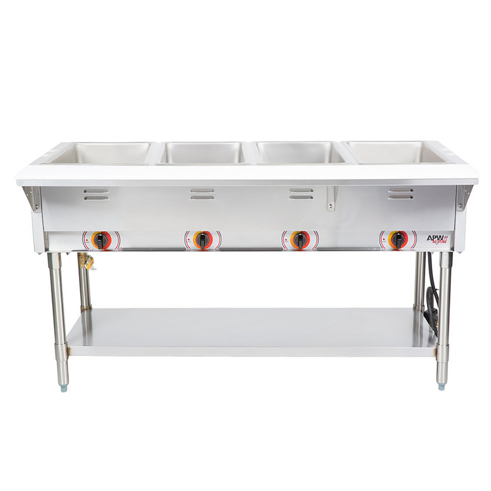 Apw Wyott Sst4s Stationary Steam Table Four Pan Sealed