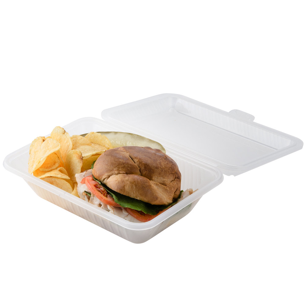 "GET EC-11 9"" x 6 1/2"" x 2 1/2"" Clear Reusable Eco-Takeouts Container - 12/Case"