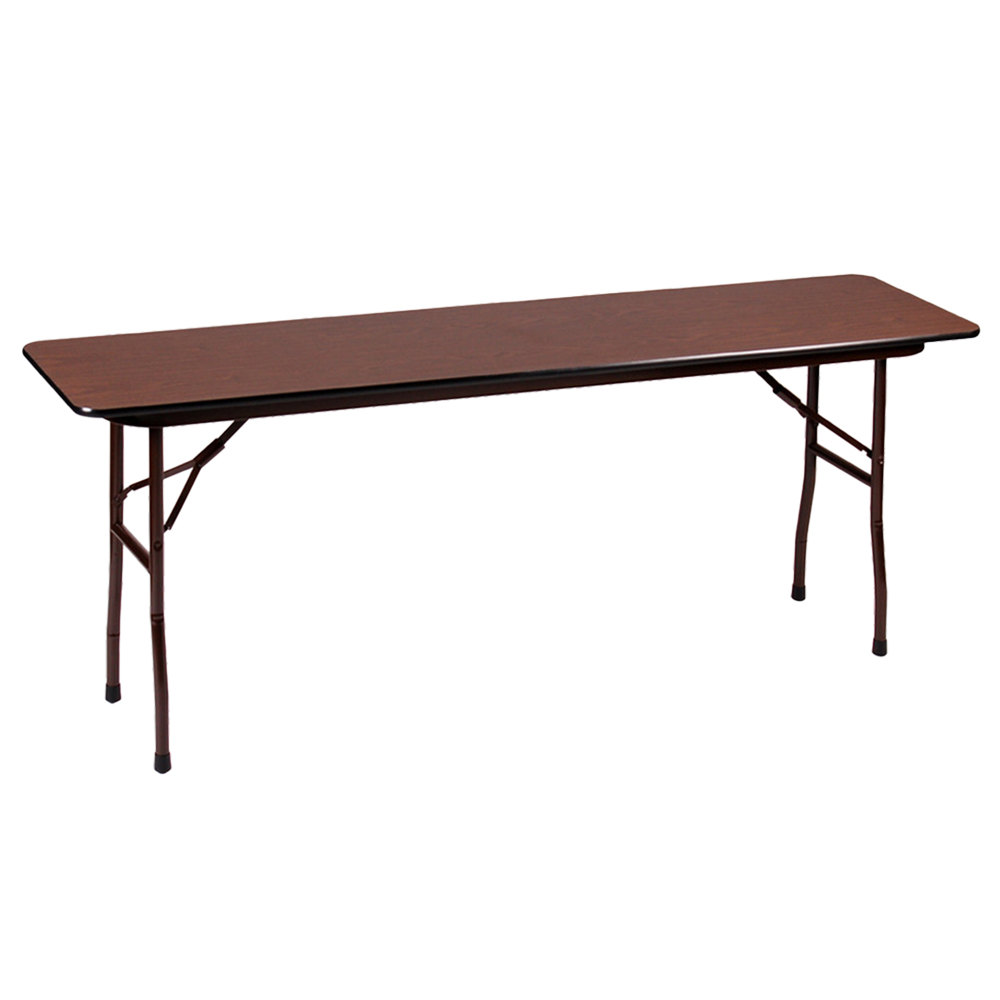 "Correll Folding Table, 18"" x 60"" Melamine Top, Walnut - CF1860M"