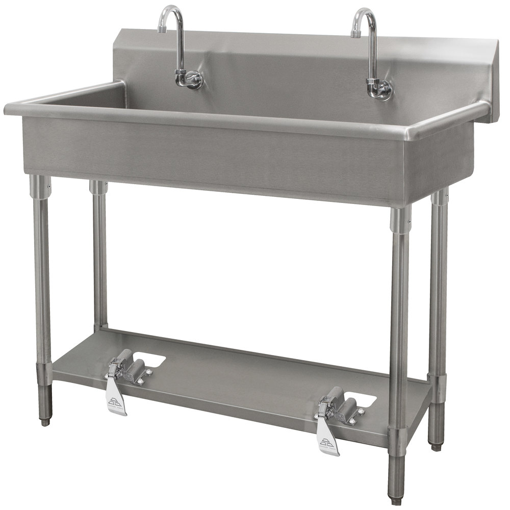 Advance Tabco FC-WM-40FV 16-Gauge Multi-Station Hand Sink with 8 ...