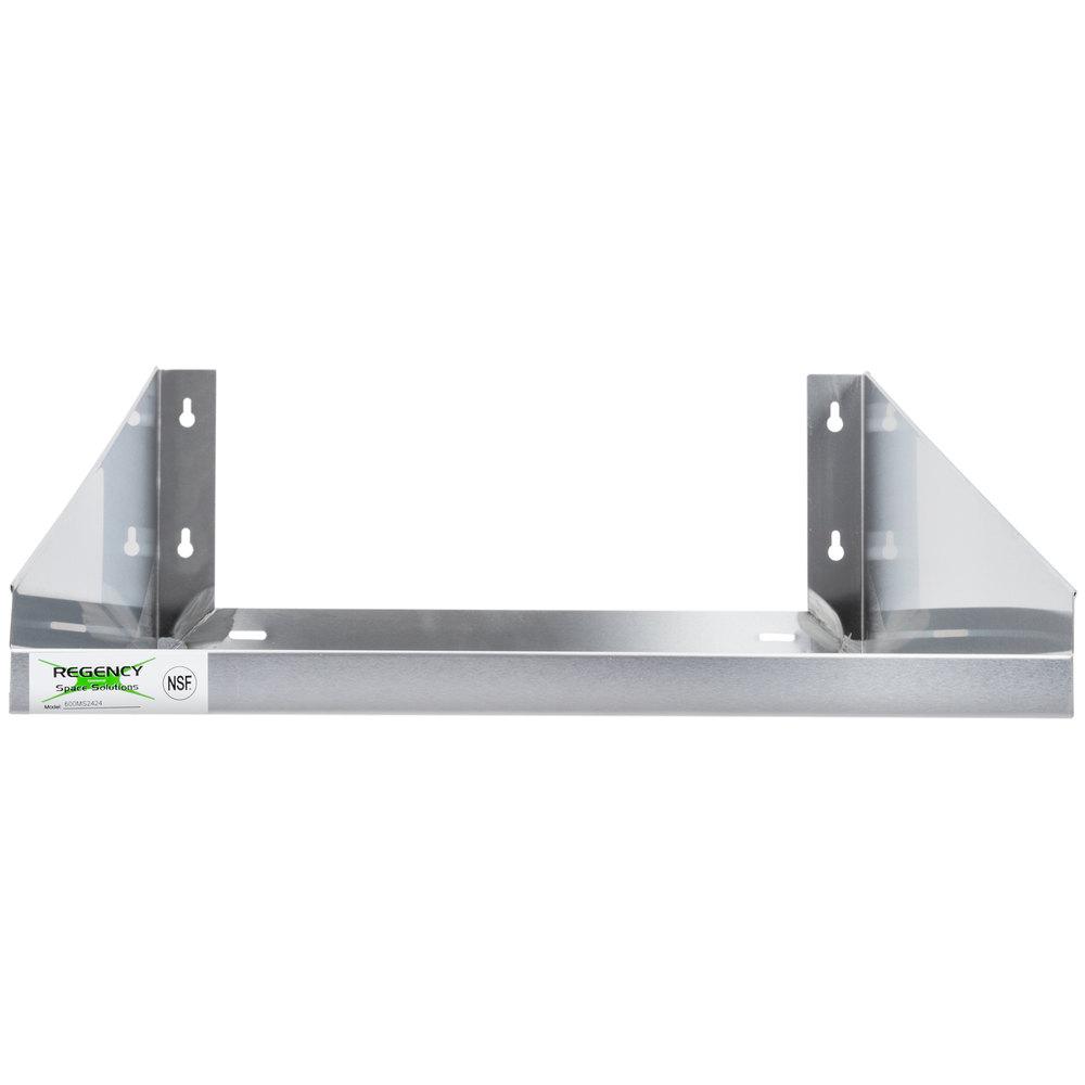 """Microwave Shelf: Regency 24"""" X 24"""" Stainless Steel Microwave Shelf"""