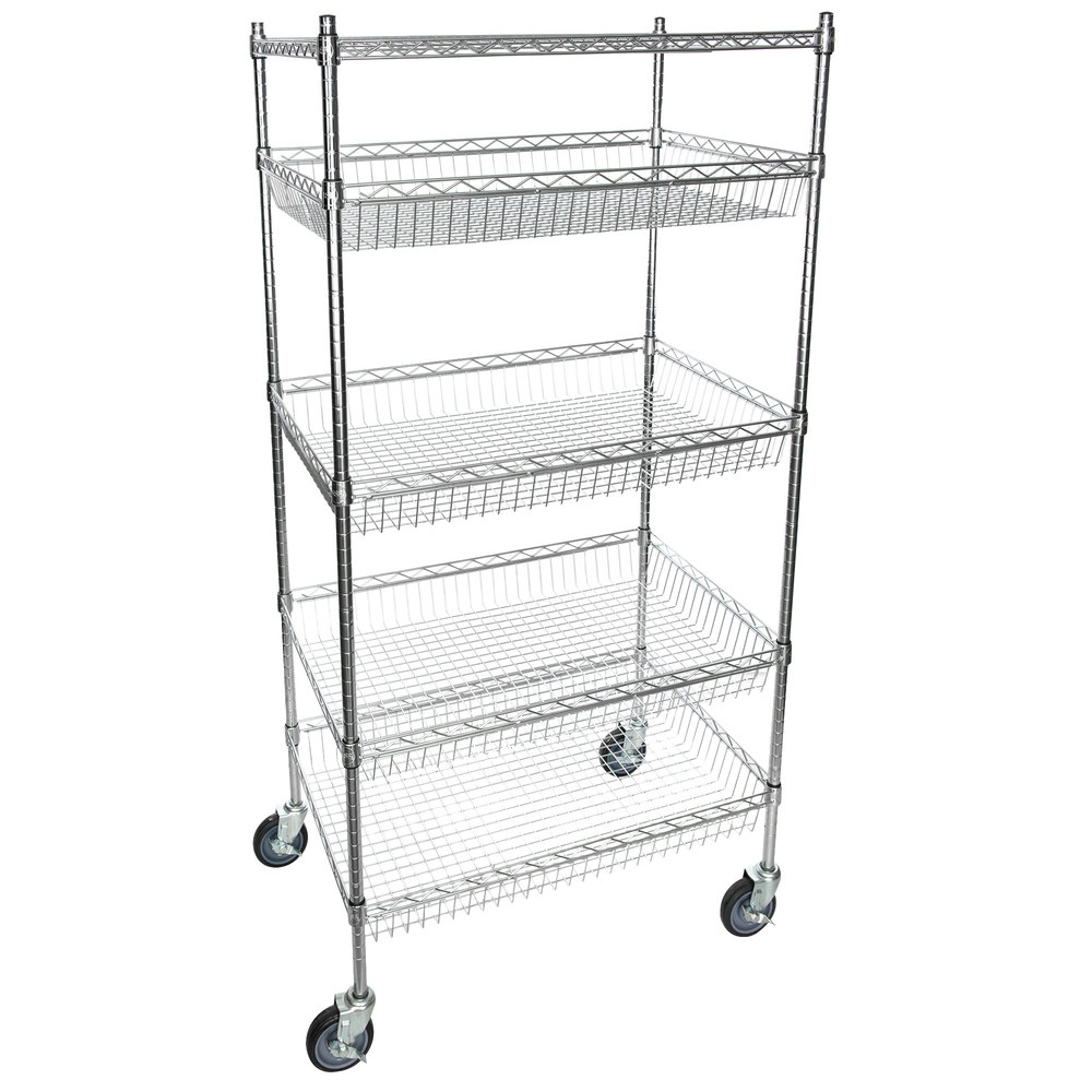 Regency NSF Chrome 4 Basket and 1 Shelf Kit - 24 inch x 36 inch x 69 inch
