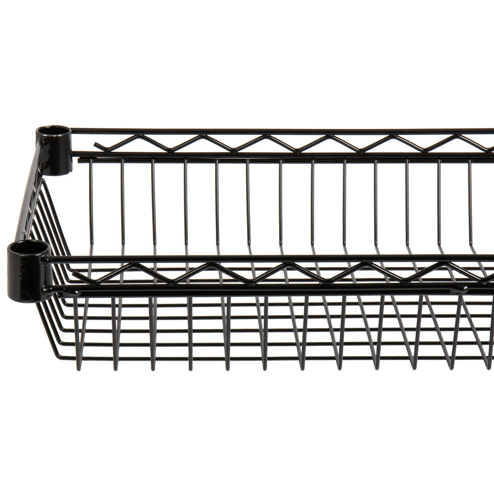 Regency 14 inch x 36 inch NSF Black Epoxy Shelf Basket