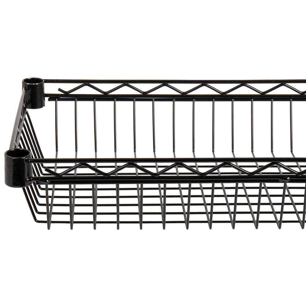 Regency 18 inch x 24 inch NSF Black Epoxy Shelf Basket