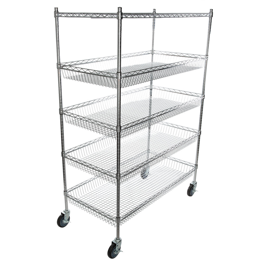 Regency NSF Chrome 4 Basket and 1 Shelf Kit - 24 inch x 48 inch x 69 inch