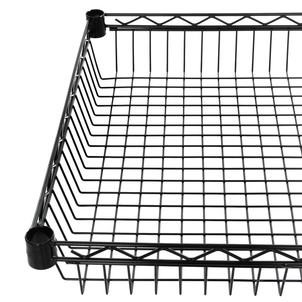 Regency 24 inch x 24 inch NSF Black Epoxy Shelf Basket