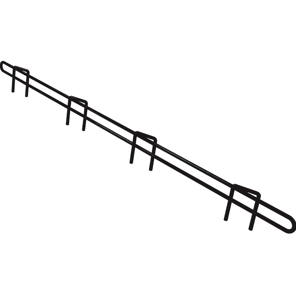"Metro L48N-1-DBM Super Erecta Black Matte Ledge 48"" x 1"""