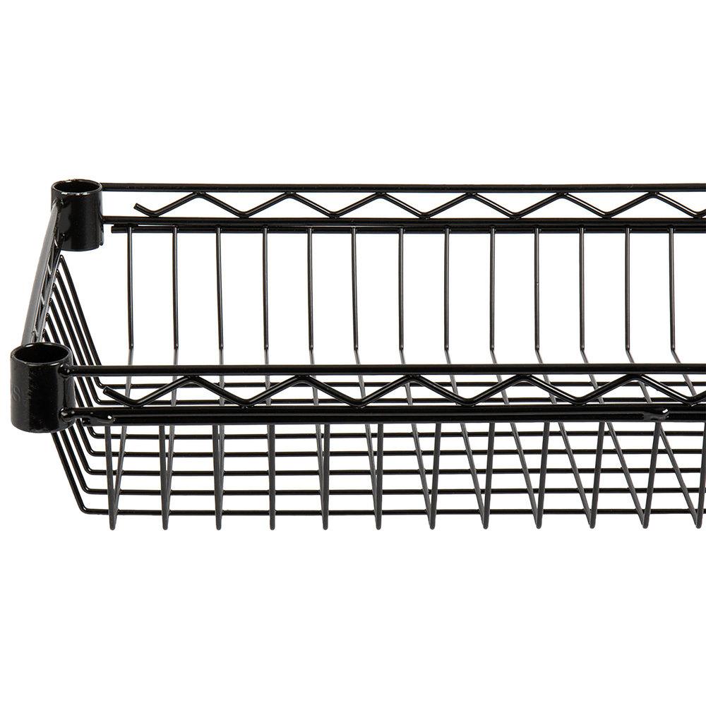 Regency 14 inch x 48 inch NSF Black Epoxy Shelf Basket