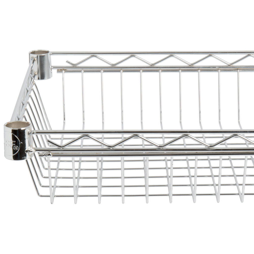 Regency 14 inch x 36 inch NSF Chrome Shelf Basket
