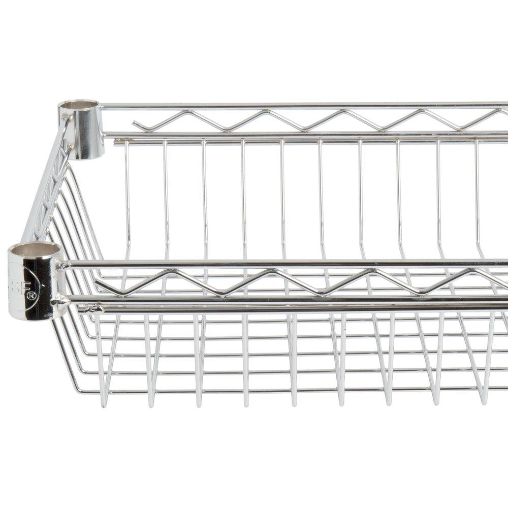 Regency 14 inch x 36 inch NSF Chrome Shelf Basket