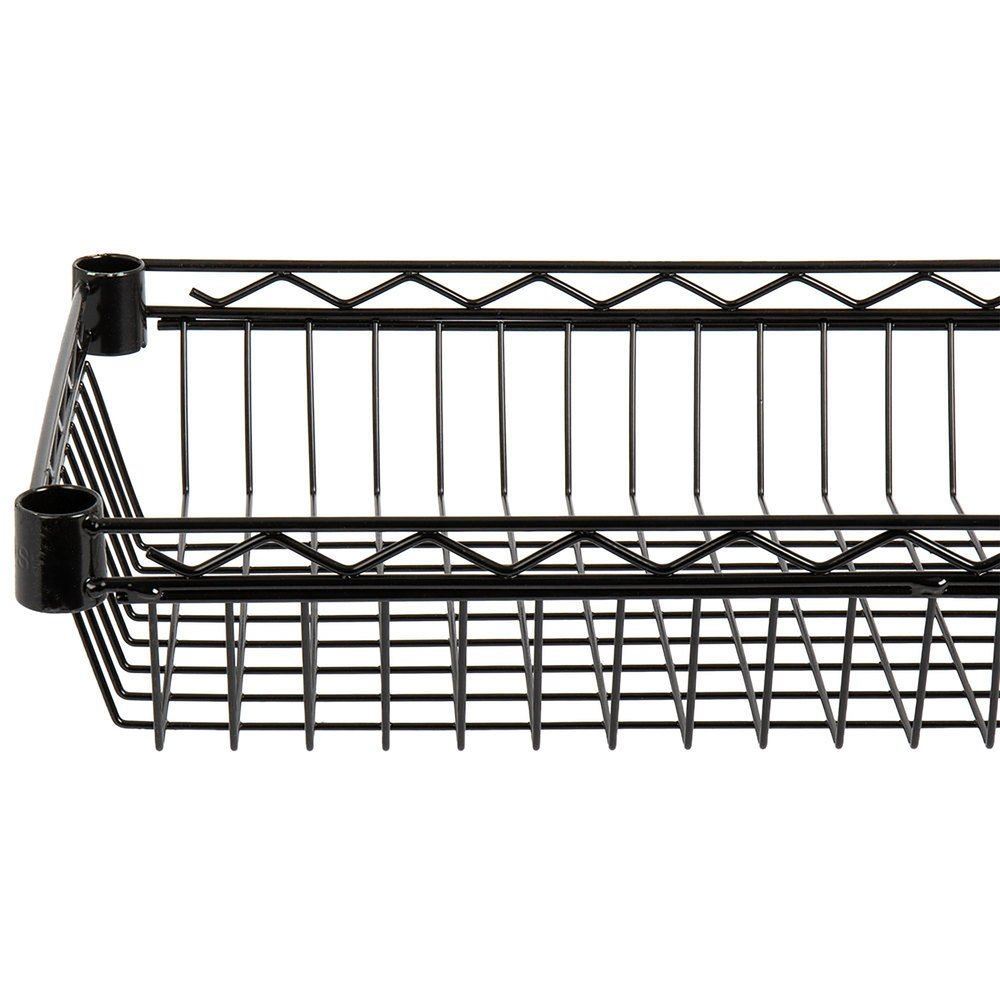 Regency 18 inch x 36 inch NSF Black Epoxy Shelf Basket