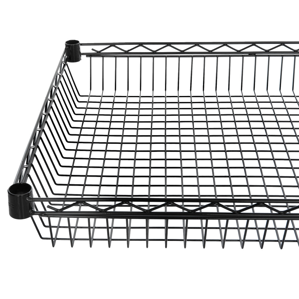 Regency 24 inch x 48 inch NSF Black Epoxy Shelf Basket