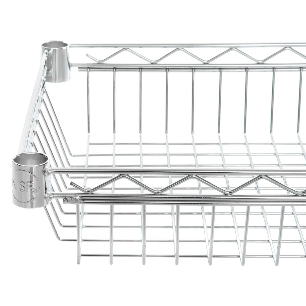 Regency 14 inch x 24 inch NSF Chrome Shelf Basket