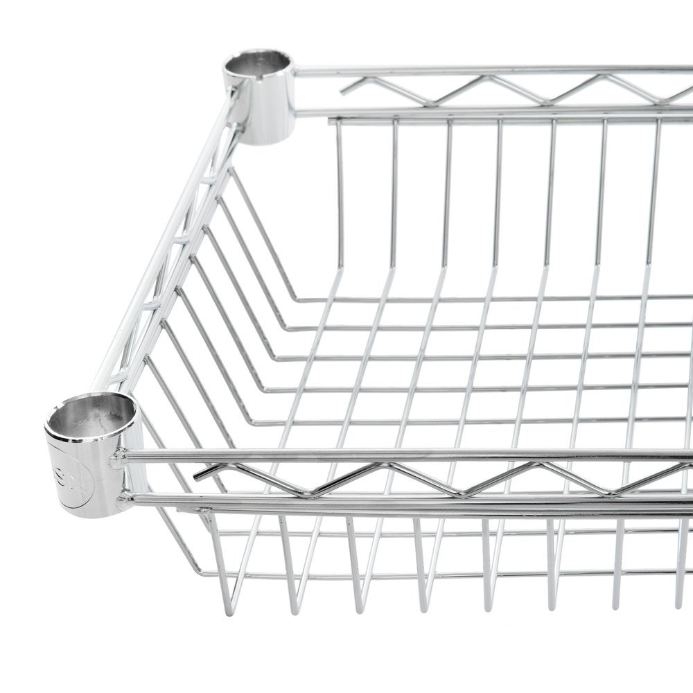 Regency 14 inch x 48 inch NSF Chrome Shelf Basket