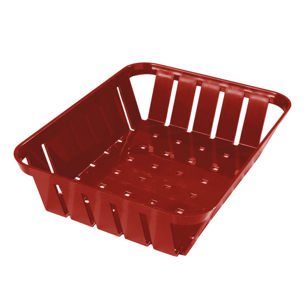 "Carlisle 4403105 Stackable Red Munchie Basket 10 3/8"" x 8"" 12 / Case"