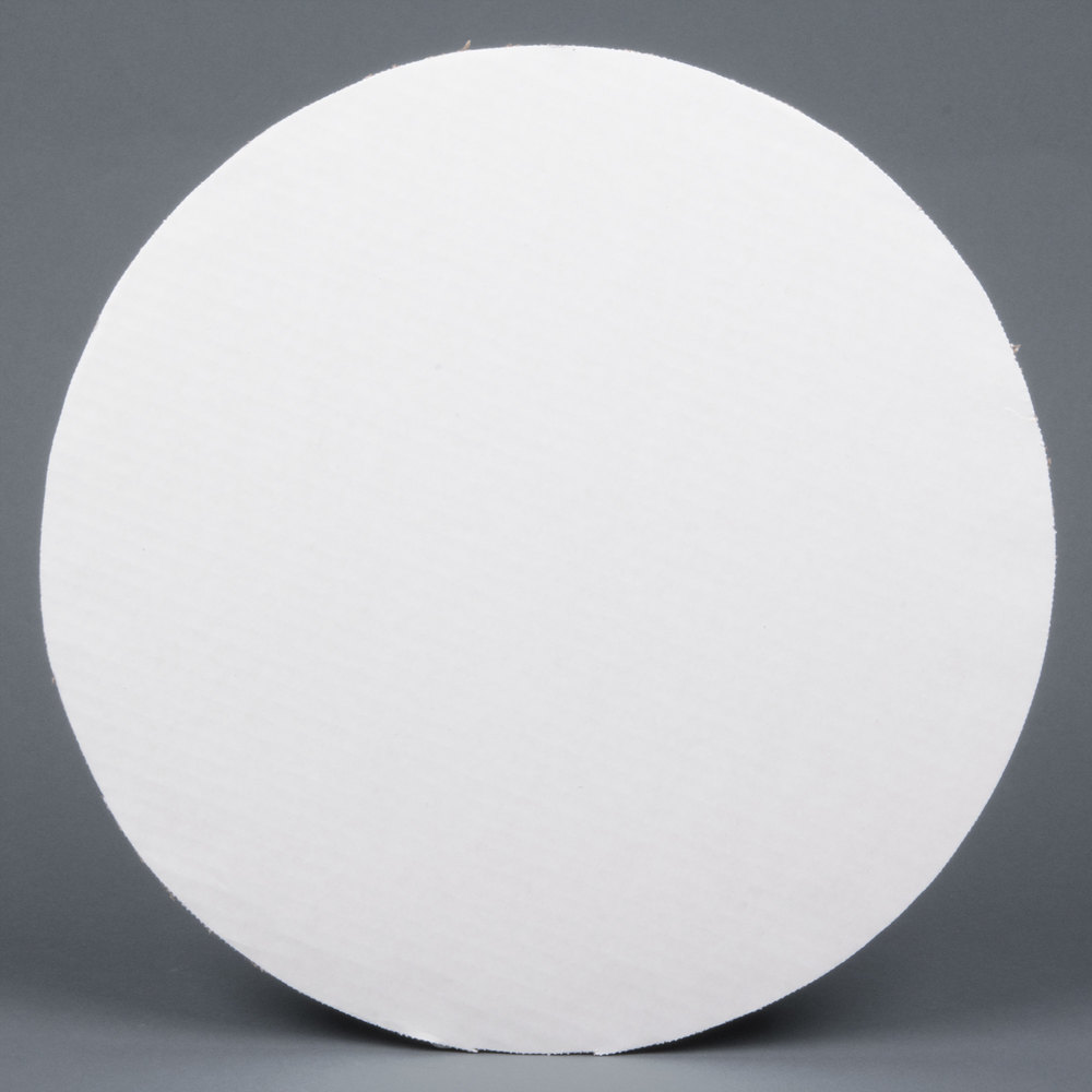"16"" Corrugated White Cake Circle - 125/Case"