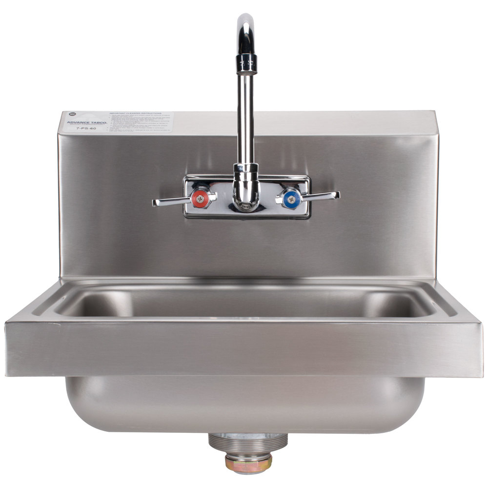 Advance Tabco 7 Ps 60 Hand Sink With Splash Mount Faucet