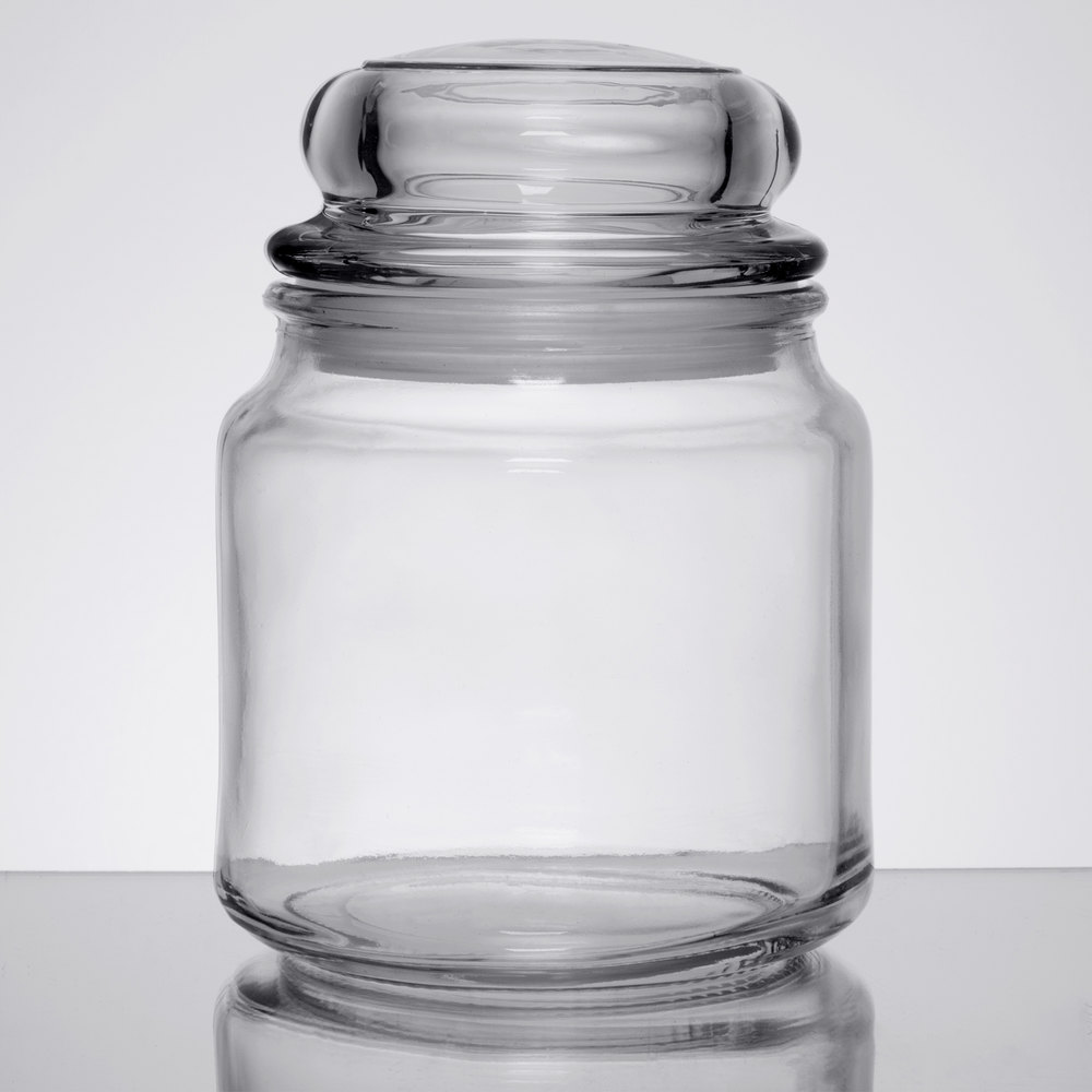 Anchor Hocking 95696 Country Comfort 16 Oz. Glass Jar With