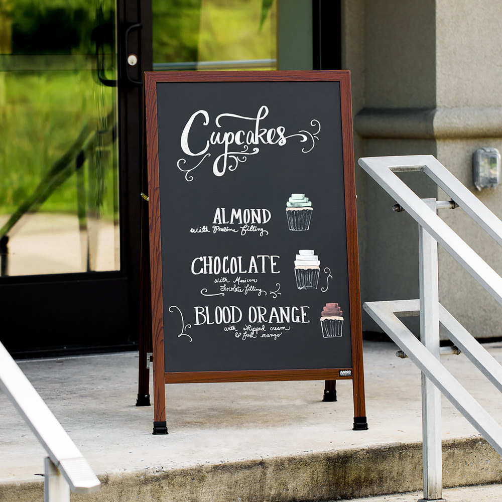 Aarco Ma 1b 42 Quot X 24 Quot Cherry A Frame Sign Board With Black
