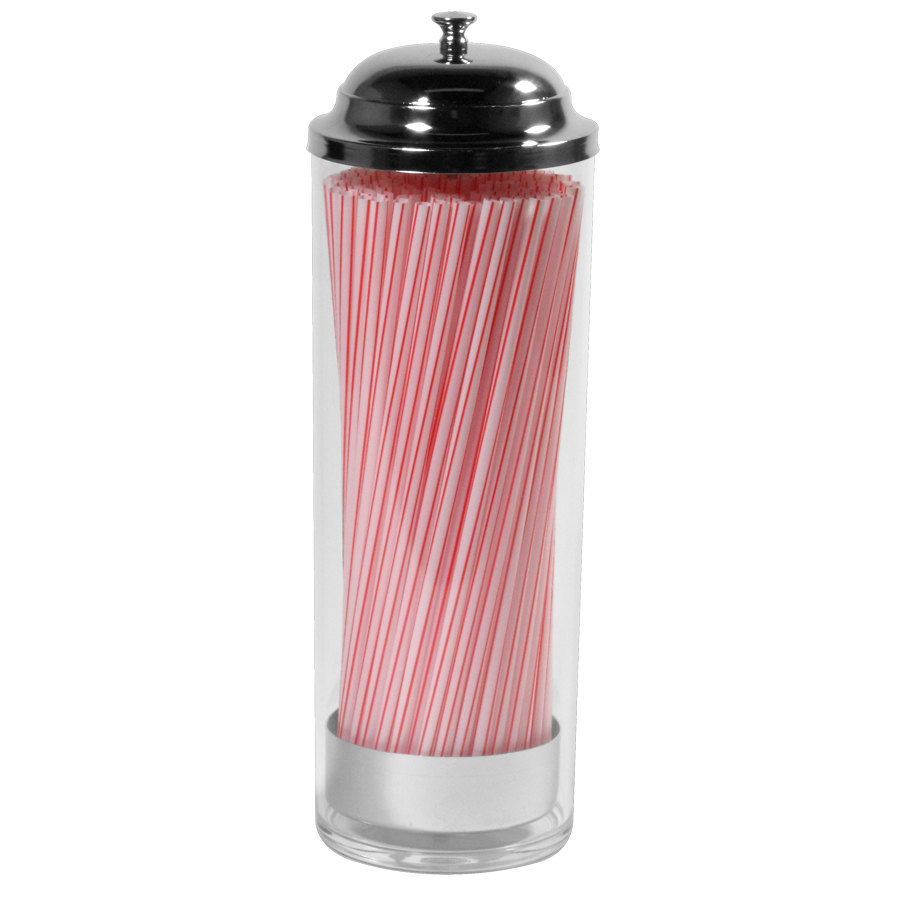 Plastic Cylinder Straw Dispenser Holds Up To 8 Quot Straws