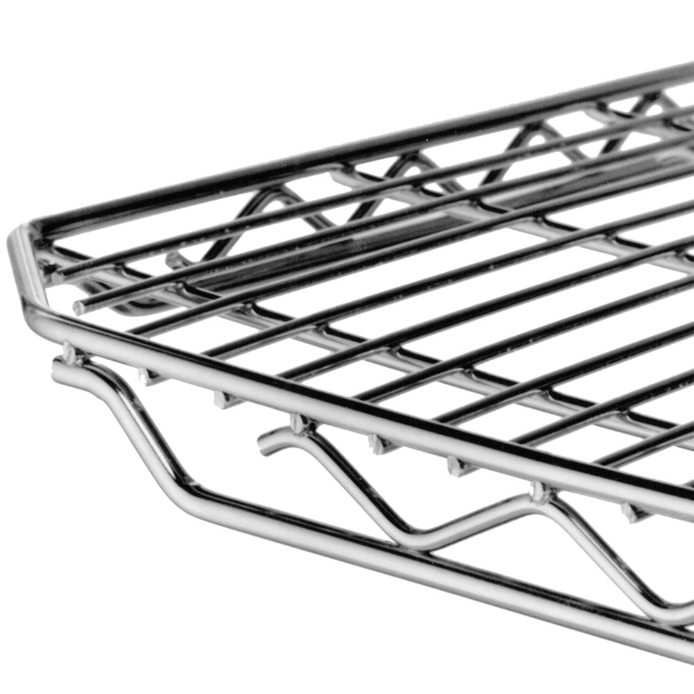 "Metro 2448QC qwikSLOT Chrome Wire Shelf - 24"" x 48"""