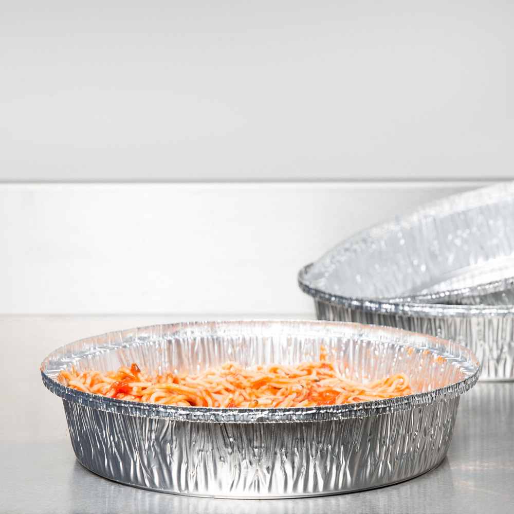 "Durable Packaging 260-35-250 10"" Round Foil Pan - 250/Case"